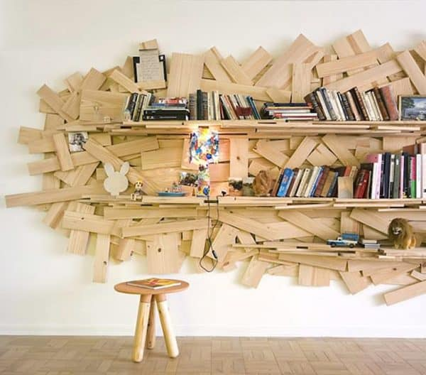 Making Your Own Bookshelves Recycled Furniture