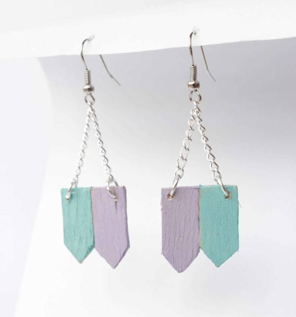 Diy: Popsicle Stick Earrings Do-It-Yourself Ideas Upcycled Jewelry Ideas