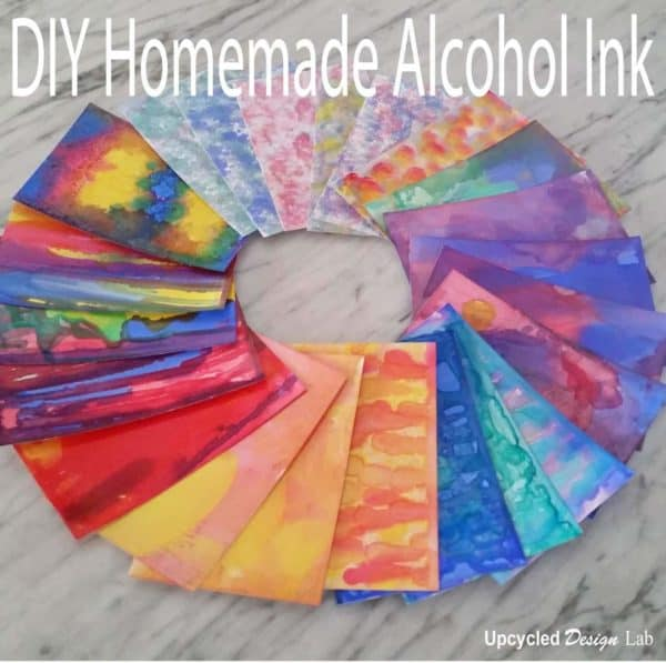 Upcycled Homemade Alcohol Inks From Common Household Items Do-It-Yourself Ideas