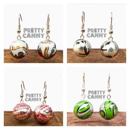 The Lightest Earrings Made From Repurposed Cans Recycling Metal Upcycled Jewelry Ideas