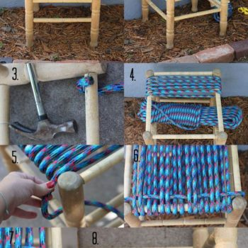 DIY: How To Restore A Woven Stool With Rope