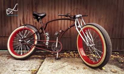 Red Pig, The Upcycled Bike