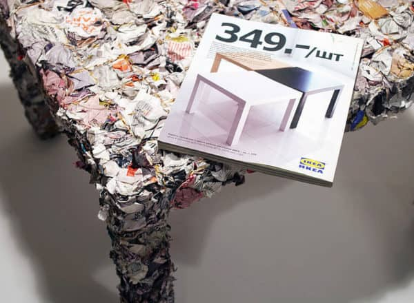 Table Made From Recycled Ikea Catalogue Recycled Furniture Recycling Paper & Books