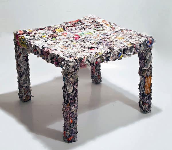 Table made from recycled ikea catalogue recycled ideas for X furniture catalogue