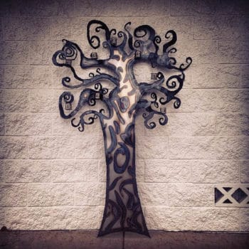 Custom Recycled Steel Designs: Whimsical Tree Edition