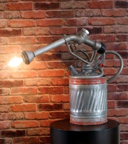 Repurposed Industrial Steam Punk Gas Pump Into Lamp