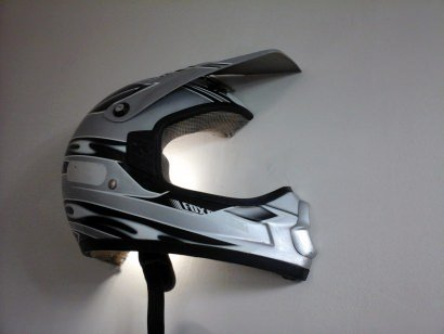Upcycled Helmet Wall Light