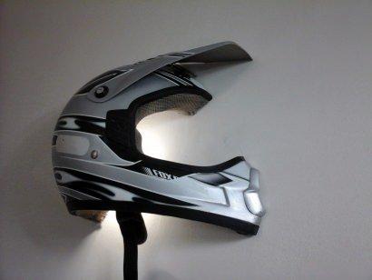 Upcycled Helmet Wall Light