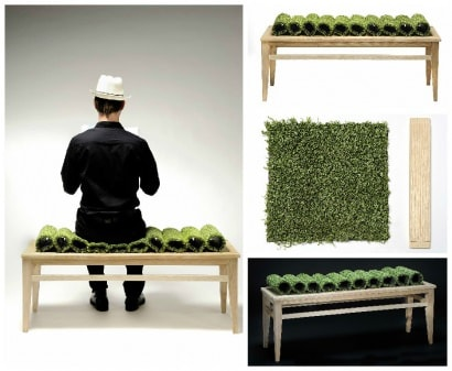 The Grass Still Grows: A Sustainable Bench By Marron Rouge And Benjamin Rousse
