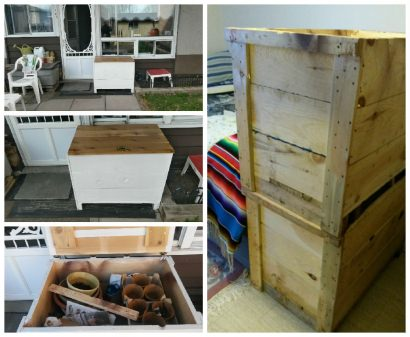Wooden Shipping Box Turned Into Storage Box