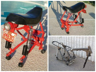 DucChair: Chair Made From Upcycled 1969 Ducati Scrambler