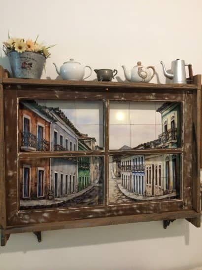Old Window, New Decorative Frame