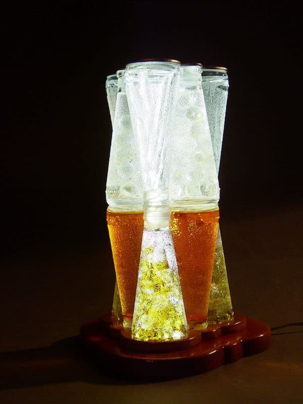 Lamps Made Out Of Upcycled Campari Bottles Lamps & Lights
