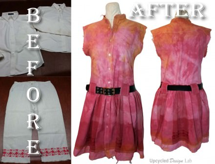 Upcycled Work Shirts To Refashioned Summer Dress