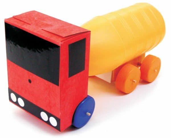 Volcano: Eco-design Workshop For Children Interactive, Happening & Street Art Recycled Packaging