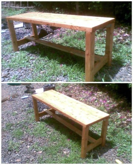 Bench Made With Upcycled Laminated Timber