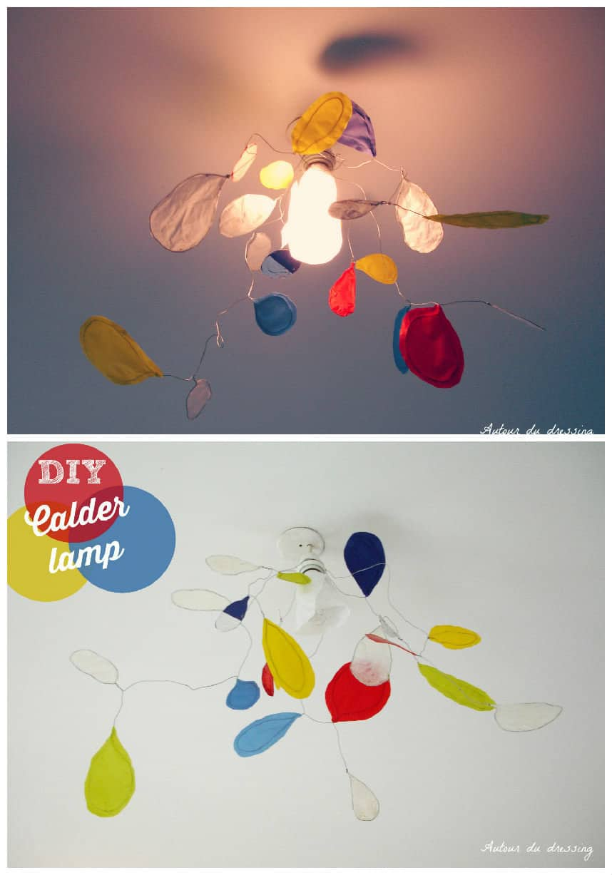 Upcycled Tracing Paper Into Suspension Lamp as Calder