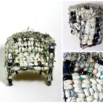 Chair Made Out Of 259 Upcycled Mice by Ana Carolina Lima Santos