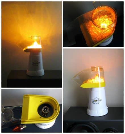 Lamp Made Out Of A Discarded Popcorn Maker