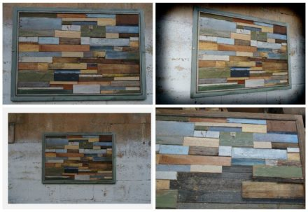 Unique Modern Wall Art Frame From Upcycled Pallet Wood