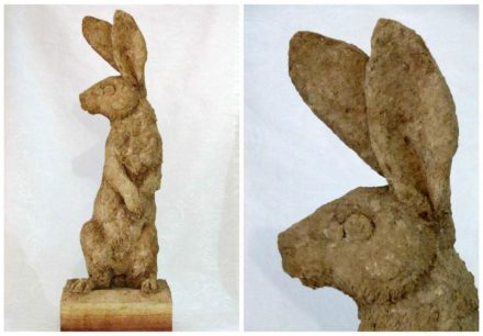 Belgian Hare Recycled Cardboard Sculpture