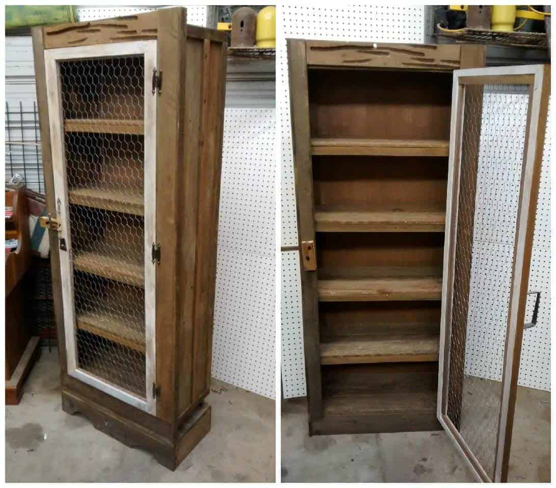 Jelly Cabinet Made From Upcycled Pallets • Recyclart. Full resolution  image, nominally Width 1091 Height 957 pixels, image with #63482D.