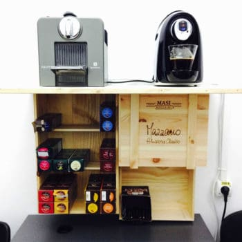 Barista Cabinet Made From 3 Wine Crates
