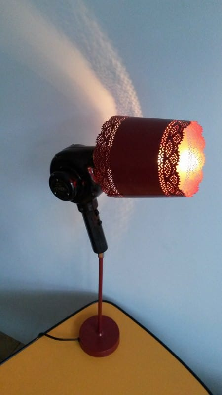 Upcycled Bakelite Hair Dryer Into Lamp Lamps & Lights