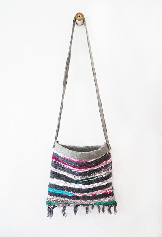 Old Rag Rug Reused Into Cute Summer Bag Accessories
