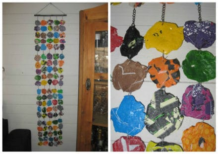 Fused Plastic Bags Wall Decoration