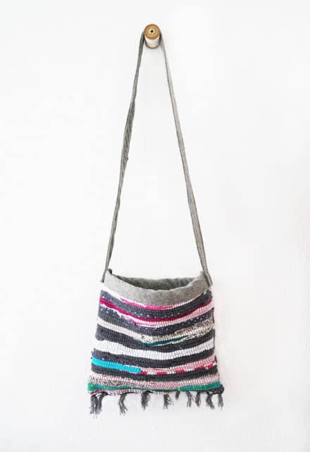 Old Rag Rug Reused Into Cute Summer Bag