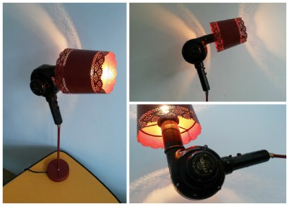 Upcycled Bakelite Hair Dryer Into Lamp