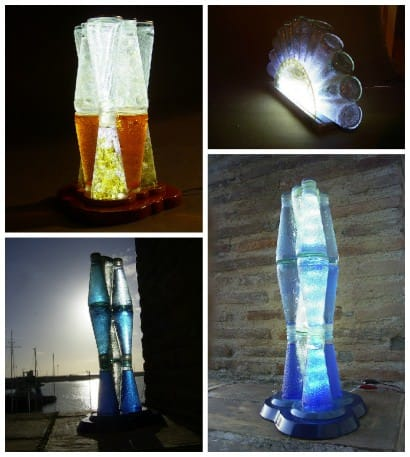 Lamps Made Out Of Upcycled Campari Bottles