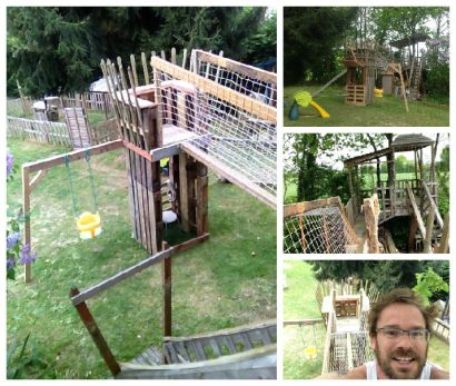Garden Kids Playhouse From Recycled Pallets