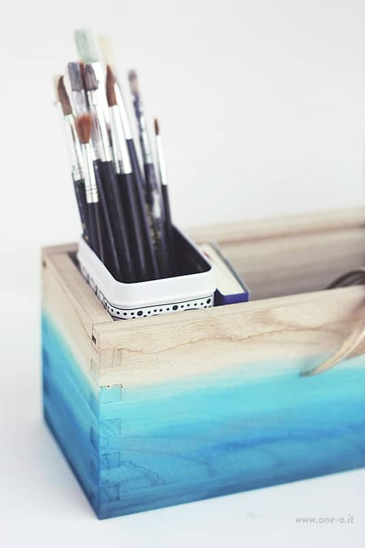 DIY: Ombre Watercolored Box Accessories