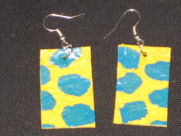 Earrings Made Of Fused Plastic Bags Recycled Plastic Upcycled Jewelry Ideas