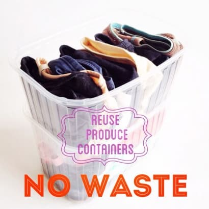 Repurpose Produce Containers