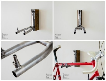 Bicycle Frame Into Bike Rack