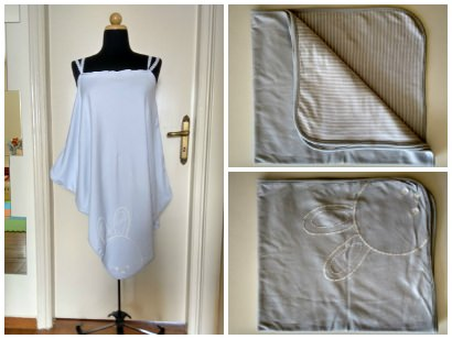 Night Gown Made From Cotton Baby Blanket