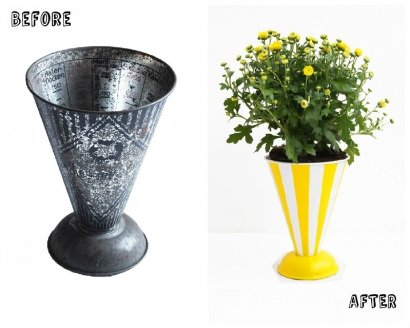 Measuring Cup Upcycled Into Flower Pot