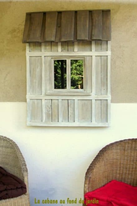 Fenêtre Décorative En Bois De Palettes / Decorative Window From Recycled Pallet Wood