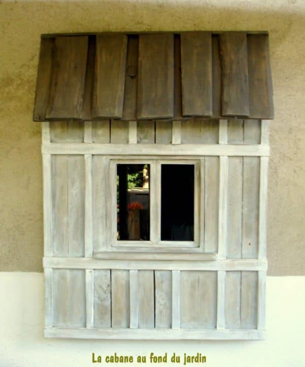 Fenêtre Décorative En Bois De Palettes / Decorative Window From Recycled Pallet Wood Recycled Pallets