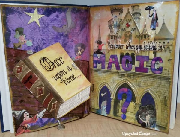 Upcycled Art Journal Book - Remember When You Believed In Magic Do-It-Yourself Ideas Recycling Paper & Books