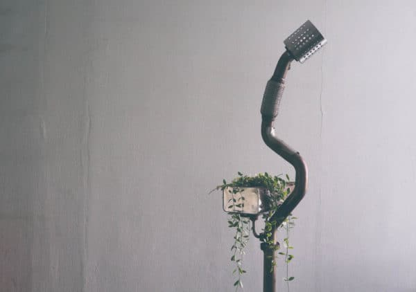 Standing Lamp Planter … From Volkswagen Car Scraps Lamps & Lights Mechanic & Friends Recycled Art