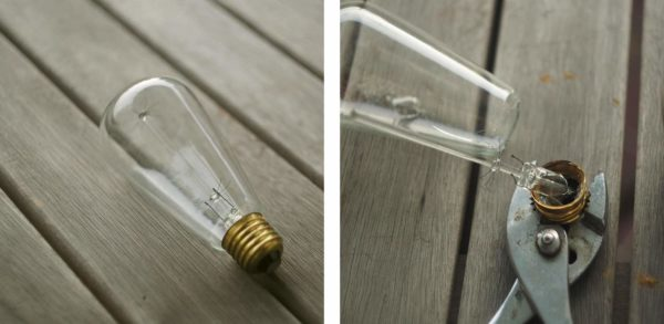 Brass Pipe Light Bulb Planter Do-It-Yourself Ideas Lamps & Lights