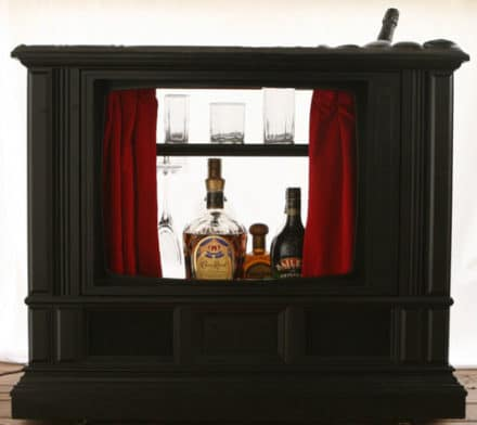 3 Mini Bar Ideas From An Old TV