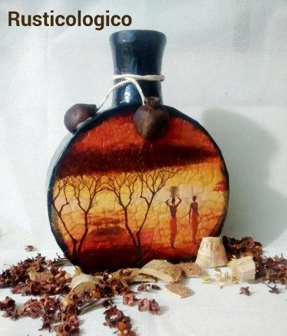 Vase Made Out Of Cardboard & Eggshells