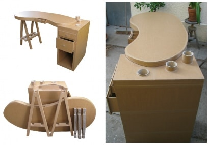 Recycled Cardboard Removable Desk