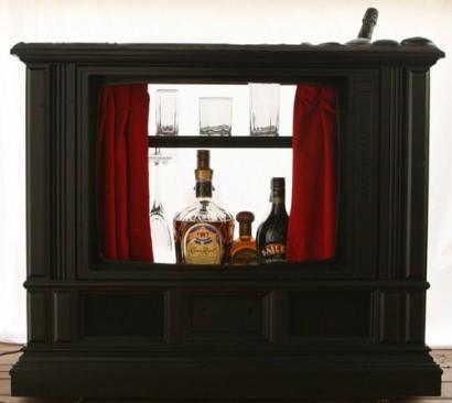 3 Mini Bar Ideas From An Old TV