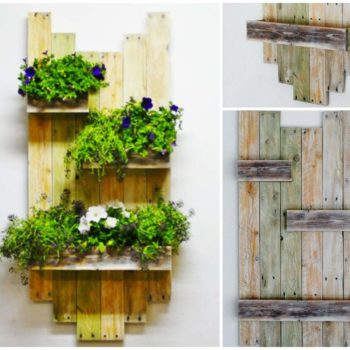 Vintage Wall Planter Made From Reclaimed Pallets